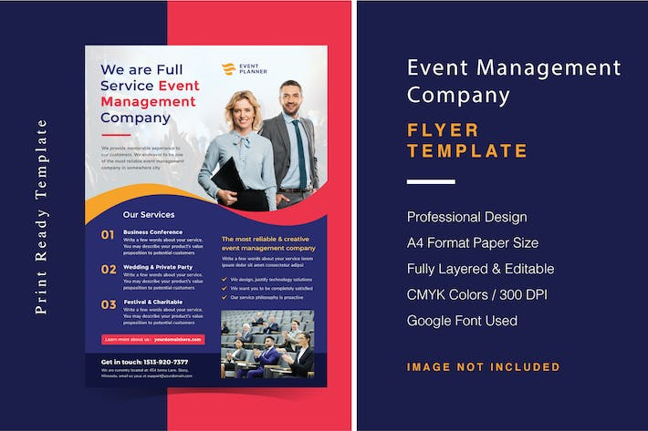 Thumbnail for Event Management Company Flyer Template