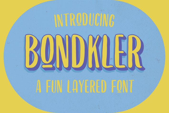 Thumbnail for Bondkler Playful Font