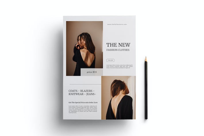 Cover Image For Minimal Fashion Flyer