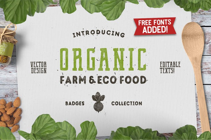 Thumbnail for Organic Farm Logo & Eco Food Retro Badges / Icons