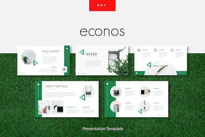 Thumbnail for Econos - Creative Powerpoint Presentation Template