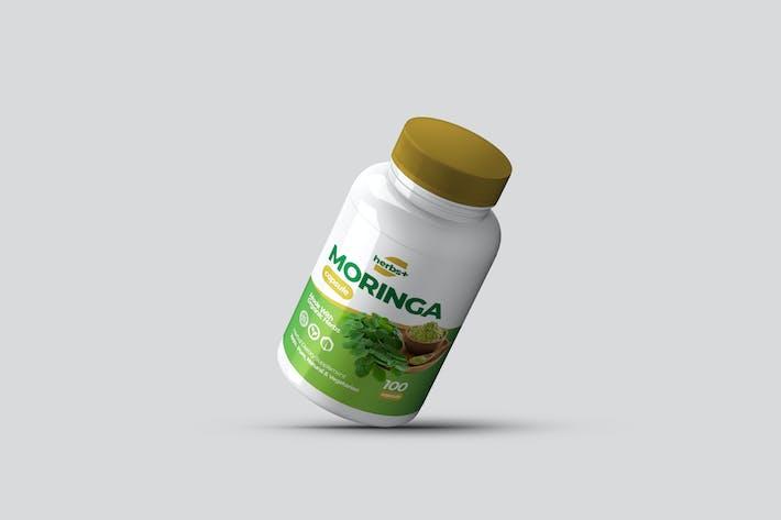 Thumbnail for Pflanzliche Nahrungsergänzungsmittel Flasche Etikett Design