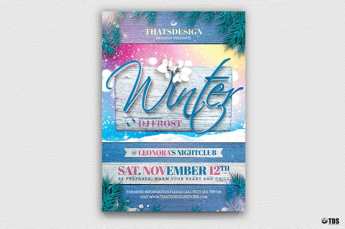 Thumbnail for Winter Season Flyer Template V3