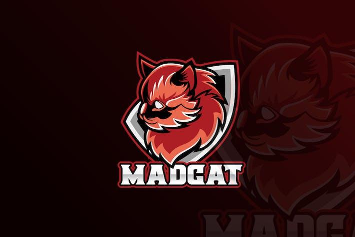 Mad Cat Team Mascot & eSports Gaming Logo