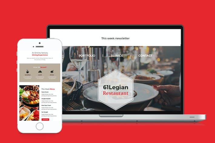 Thumbnail for 61 Legian Restaurante Modelo de e-mail