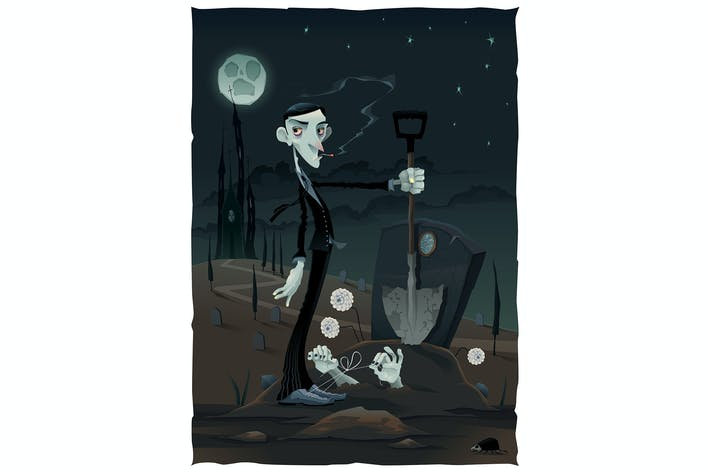 Thumbnail for Scene in the Cemetery