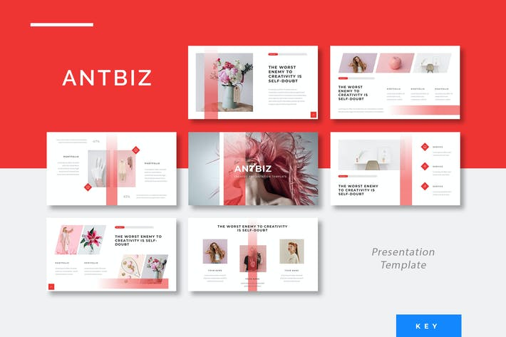 Thumbnail for Antbiz - Creative Keynote Presentation Template