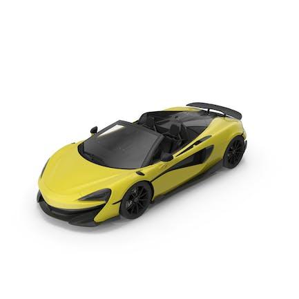 Спортивный автомобиль Желтый