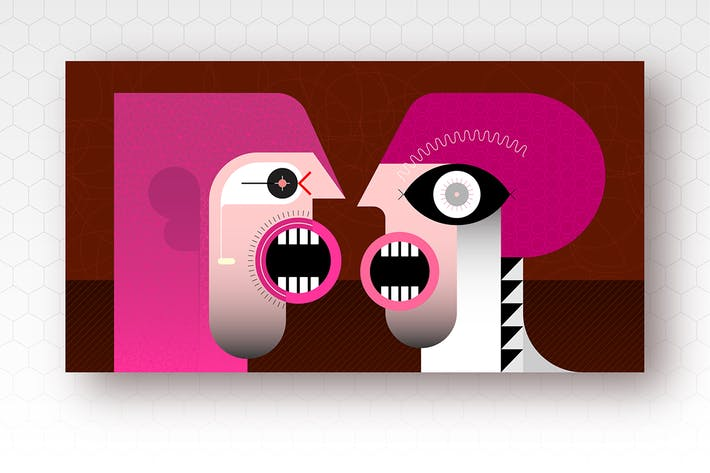 Thumbnail for Two People Talking vector illustration