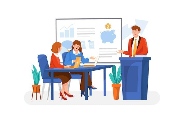 Thumbnail for Business Coaching Illustrationskonzept
