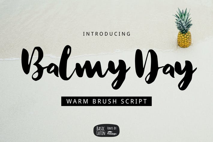 Thumbnail for Balmy Day Brush Font