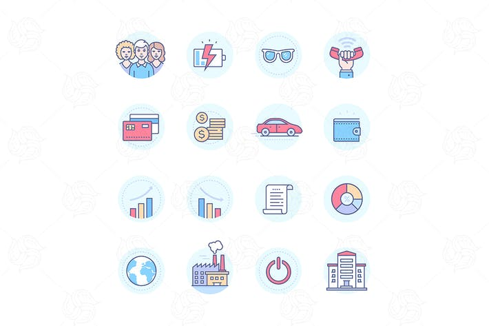 Thumbnail for Business concepts - modern line design style icons