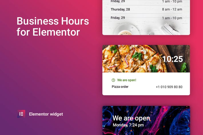 Thumbnail for Business hours for Elementor