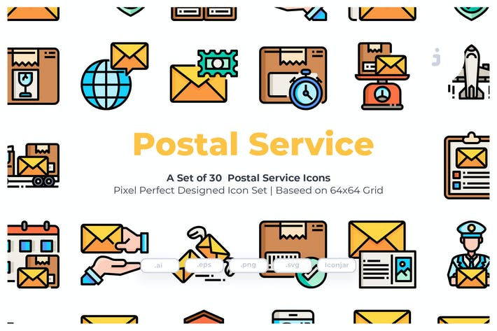 Thumbnail for 30 Postal Service Icons