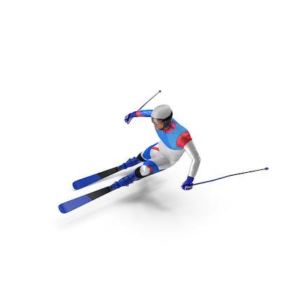 Skier Fast Turn Pose Generic