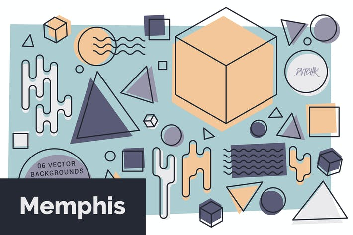 Thumbnail for Memphis |Abstract Colorful Vector Backgrounds