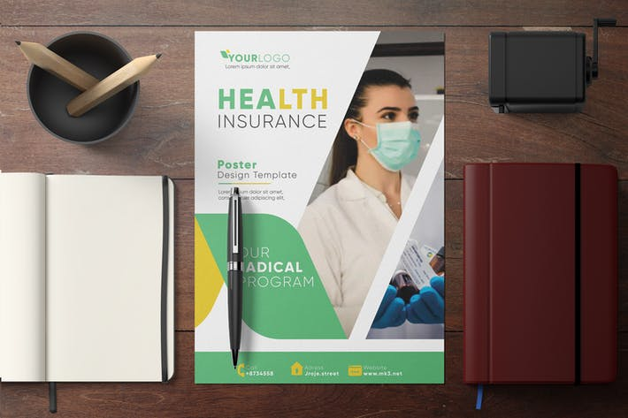 Cover Image For Health Poster Template