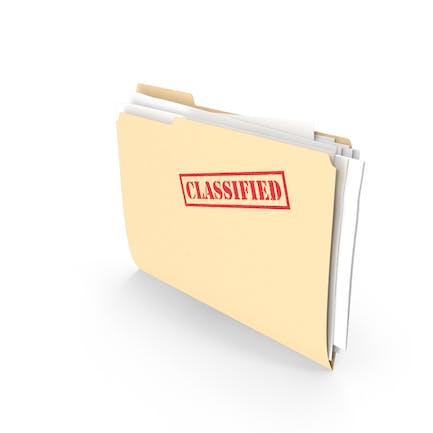 Classified Folder Vertical