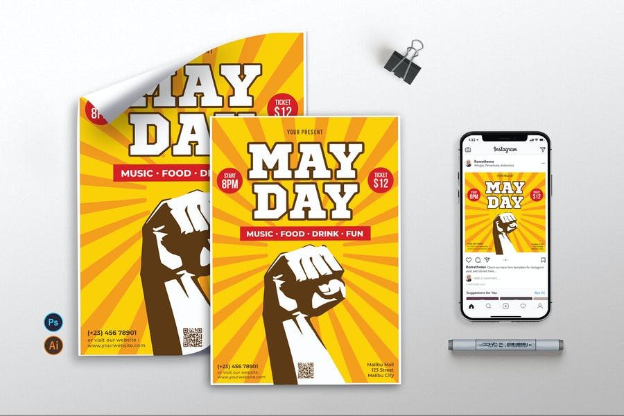 May Day vol.1 - Flyer, Poster, Instagram RB