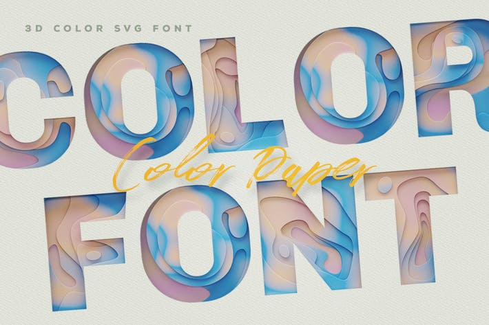 Thumbnail for Color Paper Color Fonts