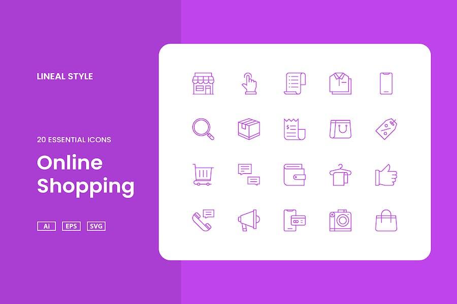 Compras en línea - Icon Set