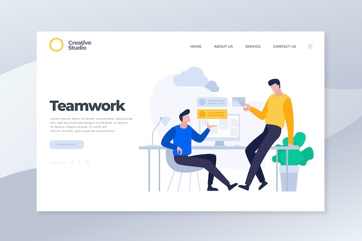 Thumbnail for Teamwork - Landing Page