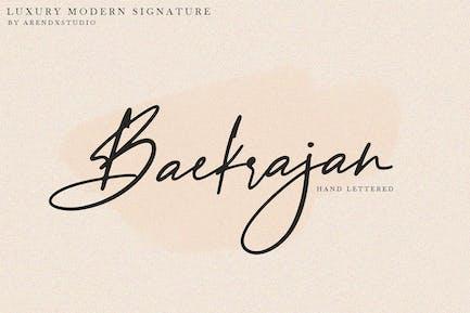 Firma moderna de lujo Baekrajan