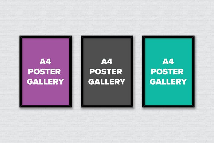 Thumbnail for Poster Frame Mockups - A4 Gallery