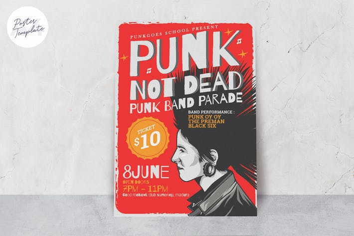 Thumbnail for Punk Music Event Poster Template