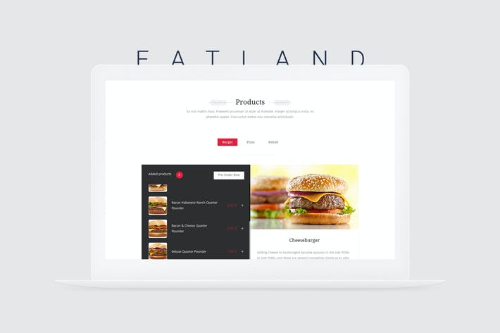 Cover Image For EatLand - eCommerce and Delivery Landing Page