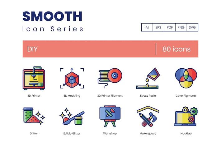 80 DIY Line Icons