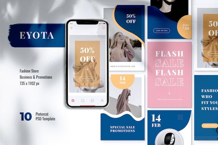 EYOTA Fashion Store Pinterest Template