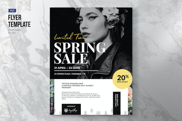 Thumbnail for Spring Fashion Shop Sale - Flyer Template