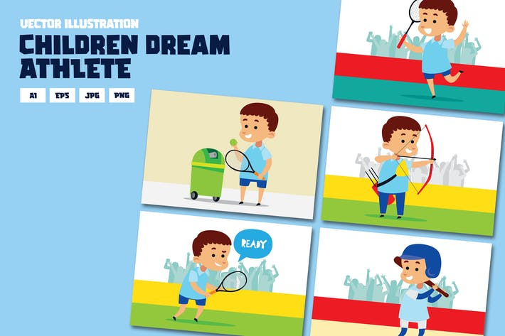 Thumbnail for Children dream series, being ATHLETE