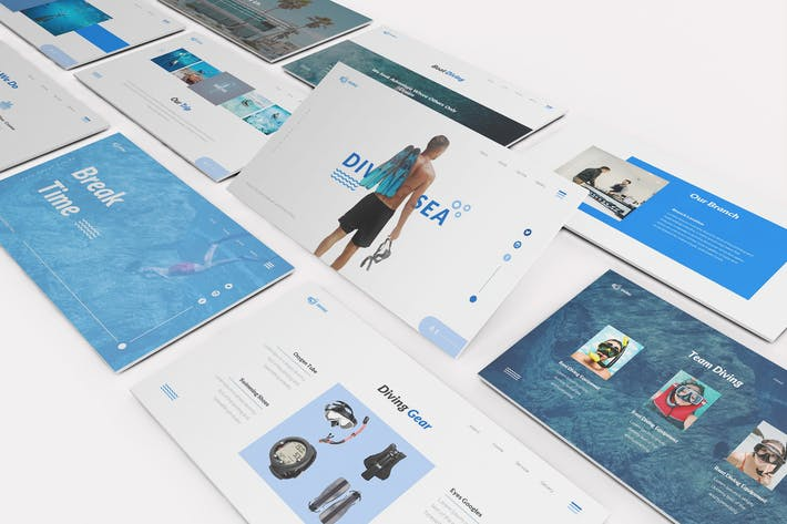 Thumbnail for Diving School Google Slides Template