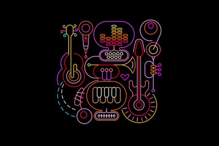 Abstract Neon Music Design