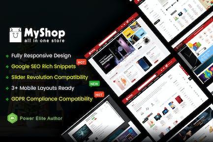 MyShop - Top Multipurpose OpenCart 3 Theme