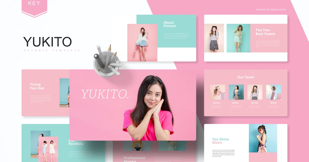 Download Yukito -  Keynote Template by UnicodeID