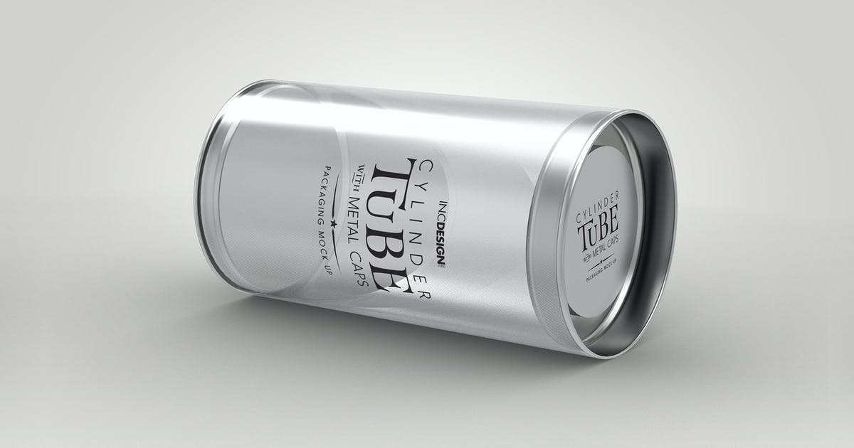 Download 120mm Cylinder Tube Packaging Mockup by ina717