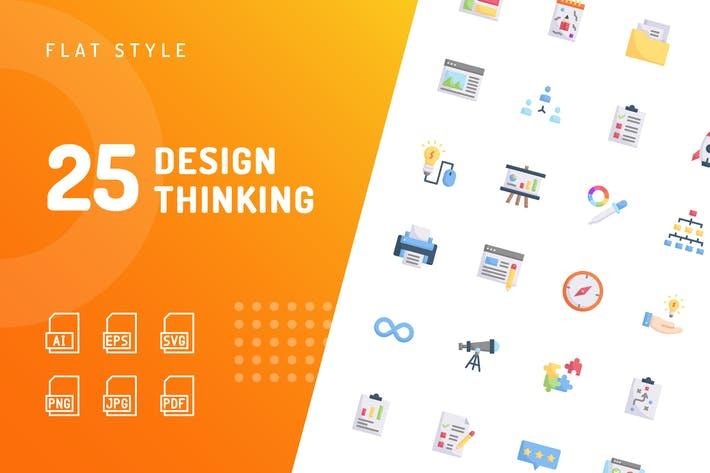 Thumbnail for Design Thinking Flat Icons