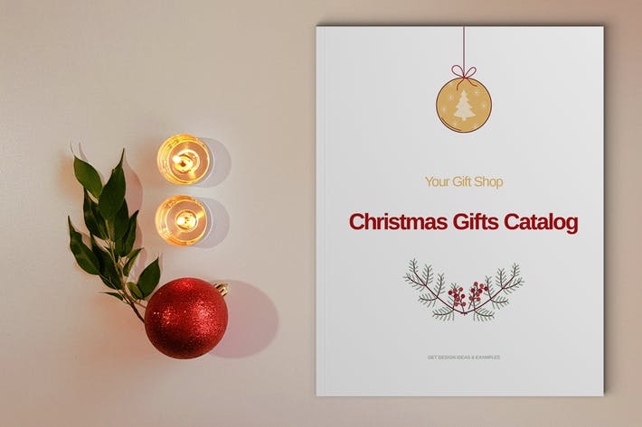 Thumbnail for Modèle de catalogue de cadeaux de Noël