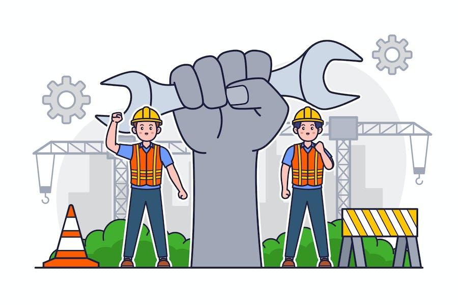 Иллюстрация Дня труда