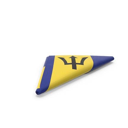 Flagge gefaltet Dreieck Barbados