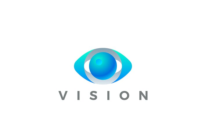 Thumbnail for Logo Eye Vision Vector 3D design style