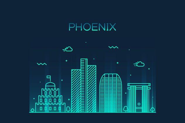 Phoenix skyline, United States
