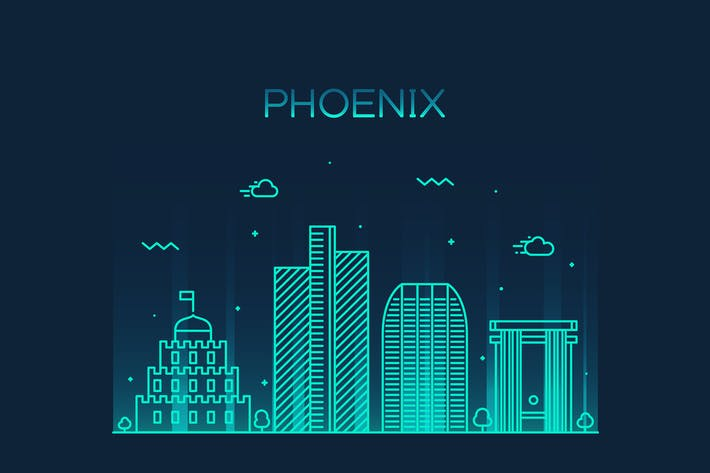Thumbnail for Phoenix skyline, United States