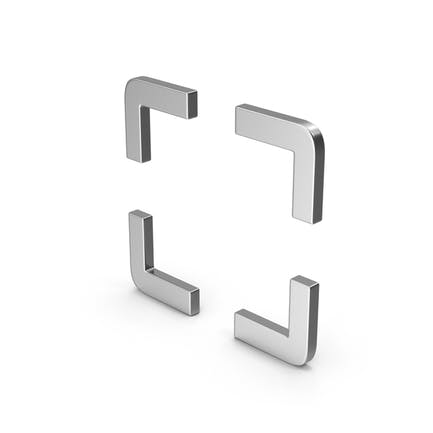Symbol Fullscreen Silver