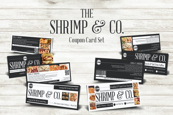 Thumbnail for Seafood Restaurant Coupon Card