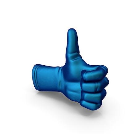 Thumbs Up Handschuh aus Seide