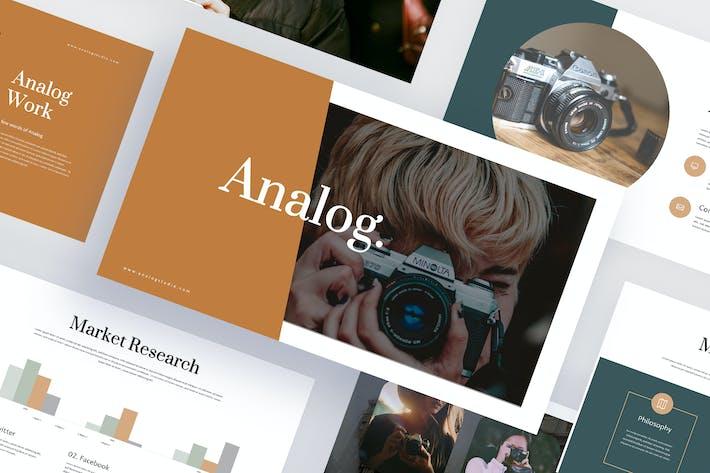 Thumbnail for Analog - Photography Google Slides Template